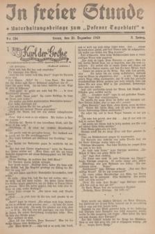"""In Freier Stunde : Unterhaltungsbeilage zum """"Posener Tageblatt"""". Jg.3, Nr. 294 (21 Dezember 1929)"""