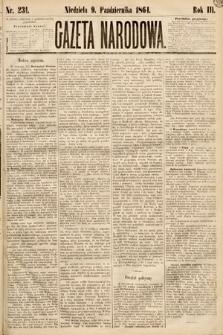 Gazeta Narodowa. 1864, nr231
