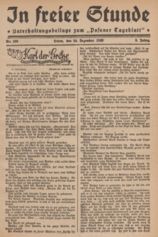 """In Freier Stunde : Unterhaltungsbeilage zum """"Posener Tageblatt"""". Jg.3, Nr. 296 (24 Dezember 1929)"""