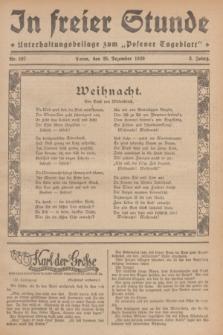 """In Freier Stunde : Unterhaltungsbeilage zum """"Posener Tageblatt"""". Jg.3, Nr. 297 (25 Dezember 1929)"""