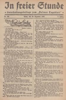 """In Freier Stunde : Unterhaltungsbeilage zum """"Posener Tageblatt"""". Jg.3, Nr. 298 (28 Dezember 1929)"""