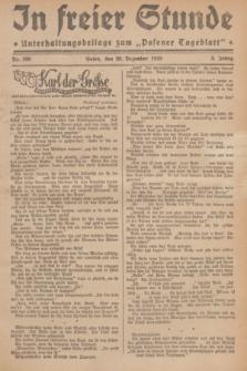 """In Freier Stunde : Unterhaltungsbeilage zum """"Posener Tageblatt"""". Jg.3, Nr. 299 (29 Dezember 1929)"""