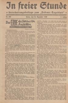 """In Freier Stunde : Unterhaltungsbeilage zum """"Posener Tageblatt"""". Jg.3, Nr. 300 (31 Dezember 1929)"""