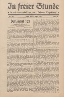 """In Freier Stunde : Unterhaltungsbeilage zum """"Posener Tageblatt"""". Jg.6, Nr. 186 (17 August 1932)"""