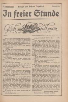 """In Freier Stunde : Beilage zum """"Posener Tageblatt"""". 1935, Nr. 224 (29 September)"""