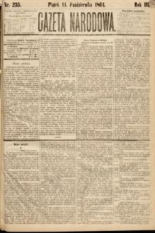 Gazeta Narodowa. 1864, nr235