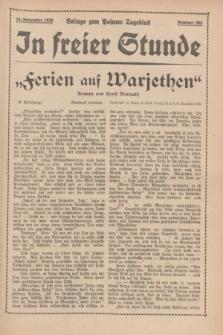 "In Freier Stunde : Beilage zum ""Posener Tageblatt"". 1935, Nr. 262 (14 November)"