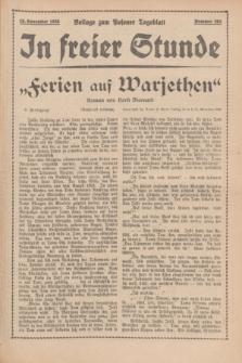 "In Freier Stunde : Beilage zum ""Posener Tageblatt"". 1935, Nr. 263 (15 November)"