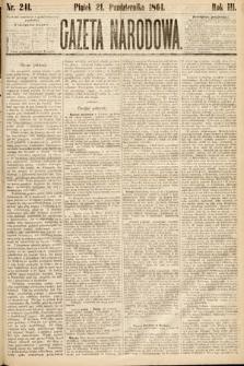 Gazeta Narodowa. 1864, nr241