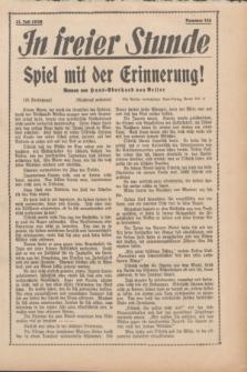 In Freier Stunde. 1939, Nr. 165 (21 Juli)