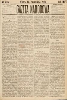 Gazeta Narodowa. 1864, nr244