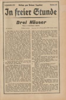 """In Freier Stunde : Beilage zum """"Posener Tageblatt"""". 1934, Nr. 207 (13 September)"""