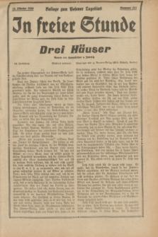 "In Freier Stunde : Beilage zum ""Posener Tageblatt"". 1934, Nr. 231 (11 Oktober)"