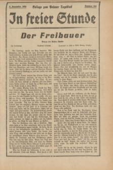 "In Freier Stunde : Beilage zum ""Posener Tageblatt"". 1934, Nr. 255 (9 November)"