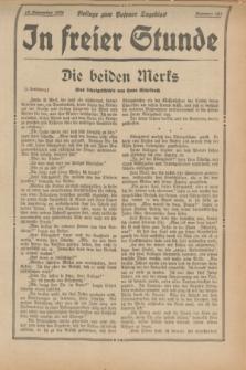 "In Freier Stunde : Beilage zum ""Posener Tageblatt"". 1934, Nr. 263 (18 November)"