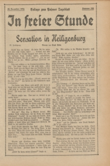 "In Freier Stunde : Beilage zum ""Posener Tageblatt"". 1934, Nr. 295 (29 December)"