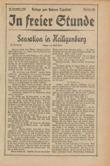 "In Freier Stunde : Beilage zum ""Posener Tageblatt"". 1934, Nr. 296 (30 December)"