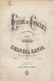 Etude de concert : en La majeur : composée pour piano : op. 31