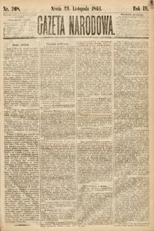 Gazeta Narodowa. 1864, nr268