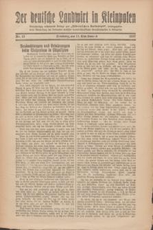 """Der Deutsche Landwirt in Kleinpolen : vierzehntägig erscheinende Beilage zum """"Ostdeutschen Volksblatt"""". 1927, Nr. 12 (11 Christmond [Dezember])"""