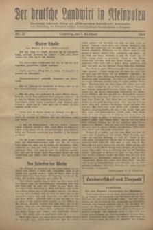 """Der Deutsche Landwirt in Kleinpolen : vierzehntägig erscheinende Beilage zum """"Ostdeutschen Volksblatt"""". 1928, Nr. 21 (7 Gilbhart [Oktober])"""