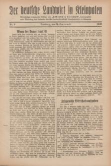 """Der Deutsche Landwirt in Kleinpolen : vierzehntägig erscheinende Beilage zum """"Ostdeutschen Volksblatt"""". 1929, Nr. 6 (24 Lenzmond [März])"""
