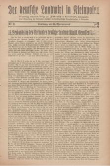 """Der Deutsche Landwirt in Kleinpolen : vierzehntägig erscheinende Beilage zum """"Ostdeutschen Volksblatt"""". 1929, Nr. 11 (26 Wonnemond [Mai])"""
