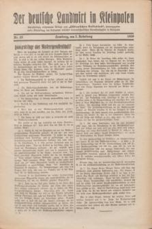 """Der Deutsche Landwirt in Kleinpolen : vierzehntägig erscheinende Beilage zum """"Ostdeutschen Volksblatt"""". 1930, Nr. 22 (2 Nebelung [November])"""