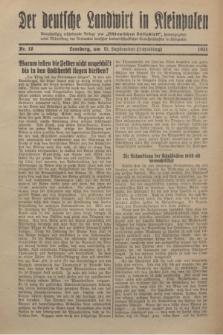 """Der Deutsche Landwirt in Kleinpolen : vierzehntägig erscheinende Beilage zum """"Ostdeutschen Volksblatt"""". 1931, Nr. 18 (13 Scheiding [September])"""