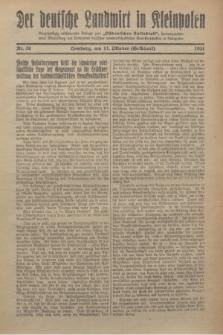 """Der Deutsche Landwirt in Kleinpolen : vierzehntägig erscheinende Beilage zum """"Ostdeutschen Volksblatt"""". 1931, Nr. 20 (11 Gelbhart [Oktober])"""