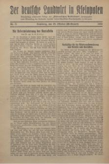 """Der Deutsche Landwirt in Kleinpolen : vierzehntägig erscheinende Beilage zum """"Ostdeutschen Volksblatt"""". 1931, Nr. 21 (25 Gelbhart [Oktober])"""