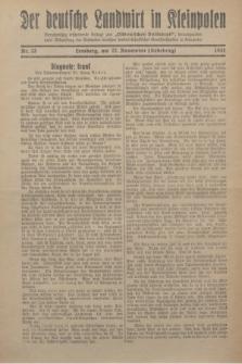 """Der Deutsche Landwirt in Kleinpolen : vierzehntägig erscheinende Beilage zum """"Ostdeutschen Volksblatt"""". 1931, Nr. 23 (22 Nebelung [November])"""