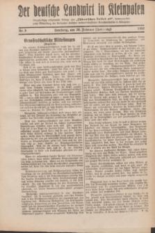"""Der Deutsche Landwirt in Kleinpolen : vierzehntägig erscheinende Beilage zum """"Ostdeutschen Volksblatt"""". 1932, Nr. 5 (28 Hornung [Februar])"""
