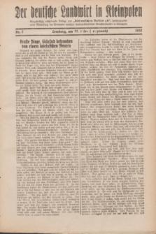 """Der Deutsche Landwirt in Kleinpolen : vierzehntägig erscheinende Beilage zum """"Ostdeutschen Volksblatt"""". 1932, Nr. 7 (27 Lenzmond [März])"""