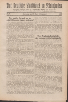 """Der Deutsche Landwirt in Kleinpolen : vierzehntägig erscheinende Beilage zum """"Ostdeutschen Volksblatt"""". 1932, Nr. 8 (10 Ostermond [April])"""