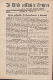 """Der Deutsche Landwirt in Kleinpolen : vierzehntägig erscheinende Beilage zum """"Ostdeutschen Volksblatt"""". 1932, Nr. 14 (3 Heuert [Juli])"""