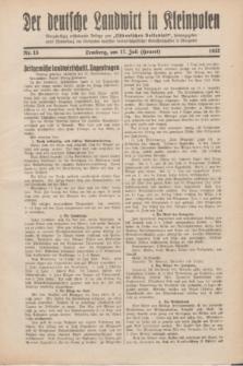 """Der Deutsche Landwirt in Kleinpolen : vierzehntägig erscheinende Beilage zum """"Ostdeutschen Volksblatt"""". 1932, Nr. 15 (17 Heuert [Juli])"""