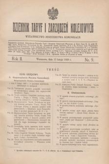 Dziennik Taryf i Zarządzeń Kolejowych : wydawnictwo Ministerstwa Komunikacji. R.2, nr 9 (13 lutego 1929)