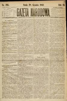 Gazeta Narodowa. 1864, nr296