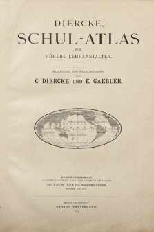 Diercke Schul-Atlas für höhere Lehranstalten