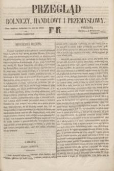 Przegląd Rolniczy, Handlowy i Przemysłowy : pismo bezpłatne, wychodzące dwa razy na tydzień przy Dzienniku Warszawskim. 1853, nr 87 (2 listopada)