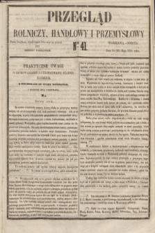 Przegląd Rolniczy, Handlowy i Przemysłowy : pismo bezpłatne, wychodzące dwa razy na tydzień przy Dzienniku Warszawskim. 1855, nr 41 (26 maja)