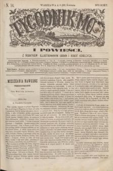 Tygodnik Mód i Powieści : z dodatkiem illustrowanym ubrań i robót kobiecych. 1872, N. 16 (20 kwietnia) + dod.