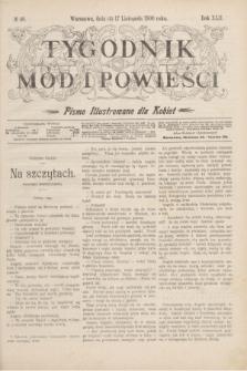 Tygodnik Mód i Powieści : pismo illustrowane dla kobiet. R.42, № 46 (17 listopada 1900)