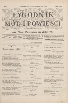 Tygodnik Mód i Powieści : pismo illustrowane dla kobiet. R.42, № 47 (24 listopada 1900)