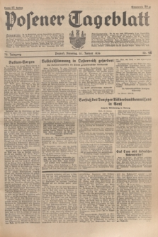 Posener Tageblatt. Jg.75, Nr. 16 (21 Januar 1936) + dod.
