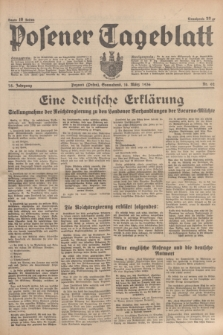 Posener Tageblatt. Jg.75, Nr. 62 (14 März 1936) + dod.