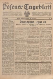 Posener Tageblatt. Jg.75, Nr. 72 (26 März 1936) + dod.