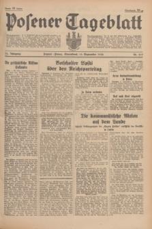 Posener Tageblatt. Jg.75, Nr. 217 (19 September 1936) + dod.