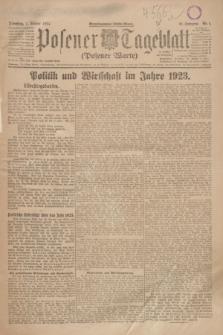 Posener Tageblatt (Posener Warte). Jg.63, Nr. 1 (1 Januar 1924) + dod.